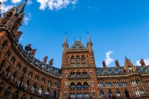 St. Pancras Hotel when backpacking in London