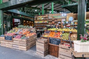 Visiting the Borough market