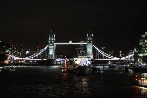 night view of london
