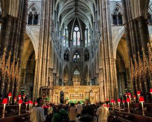 Inside Westminster Abbey in London
