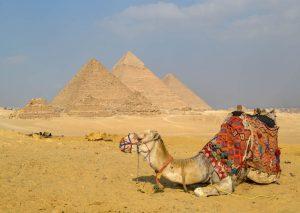 Pyramiden von Gizah bei Kairo