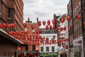 Colorful streets in Chinatown