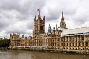 Das House of Parliament in Westminster bei London