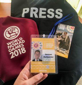 Als Pressemitglied bei den World Nomad Games