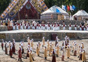 Opening Ceremony des Ethno-Dorfs der World Nomad Games Kirgistan 2018