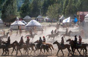 Pferde im Ethno-Dorf der world nomad games