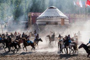 Eröffnungsshow des Ethno-Dorfs der World Nomad Games Kirgistan