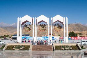 Der Eingang zum Hippodrome bei den World Nomad Games 2018