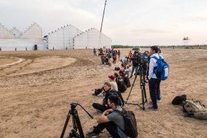 Pressemitglieder am Rand der World Nomad Games