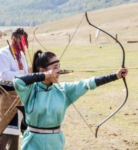 Bogenschießen als Sportart der World Nomad Games Kirgistan