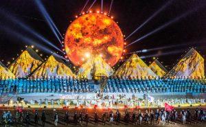 Bunte Eröffnungsshow der World Nomad Games Kirgistan