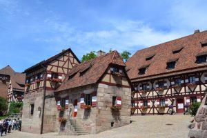 Häuser in Nürnberg, Deutschland