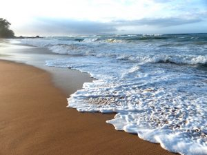 Beach while backpacking Maui