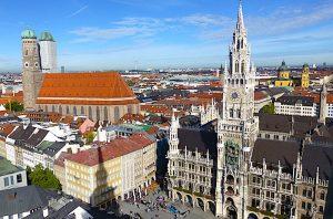 Blick auf Münchens Altstadt, eines der beliebtesten Deutschland Reiseziele