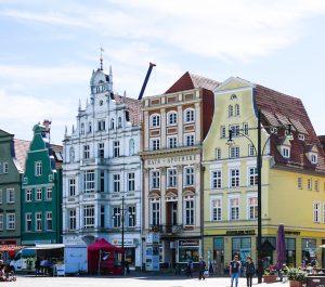 Schönte bunte Häuser in Rostock