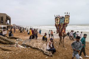 Karachi beach as a place to visit in Pakistan