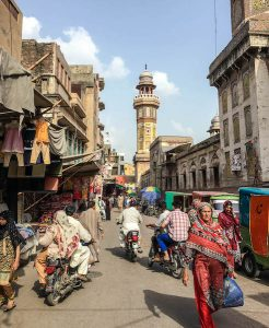 Busy streets of old Lahore, Pakistan