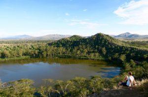 Aussicht auf die Landschaft in Kenia