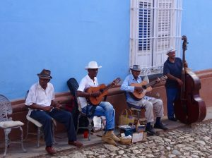 Music players in Trinidad streets