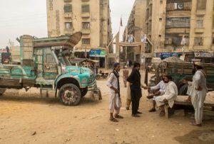 Karachi streets in Pakistan