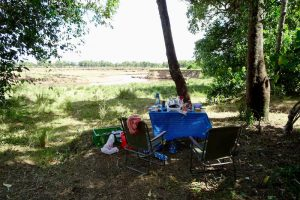 Frühstück im Safari-Camp in Kenia