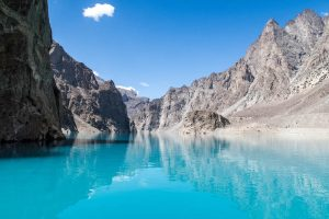 the blue Attabad Lake in Hunza