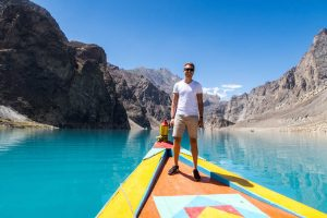 On the boat at Attabad Lake