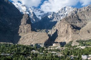 The stunning Hunza Valley while backpacking northern Pakistan