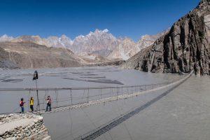 The Hussaini bridge in northern Pakistan