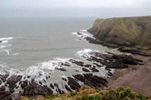 Die Küste um Aberdeen Schottland