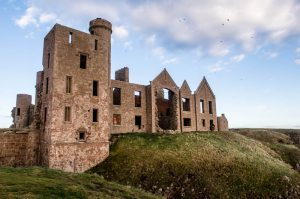 Ruinen des Slains Castle Aberdeen