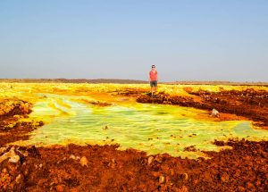 Danakil Depression while backpacking Africa