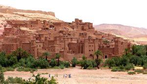The desert village in Morocco