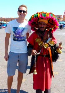 With locals in Marrakech