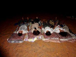 Sleeping in the Sahara desert