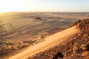 Sunset from Jebel Barka Sudan