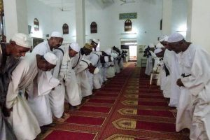 Prayers in the mosque of Khartoum