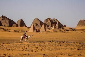 the pyramids of Meroe Sudan
