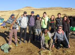 With my tour group in the Simien Mountains