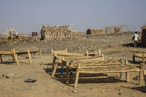 Danakil Depression sleeping spot