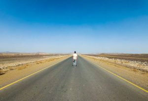 Street into Danakil Depression