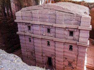 A rock church in Lalibela