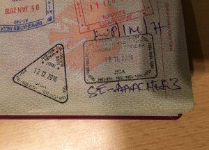 Stempel von Kenia im Reisepass