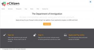 Website für das e-Visum Kenia