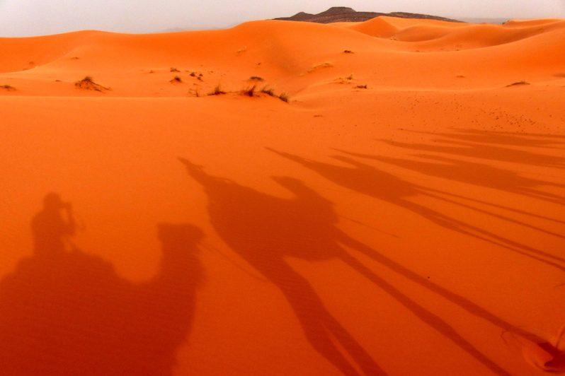 Auf Wüstentour in der Sandwüste Marokkos
