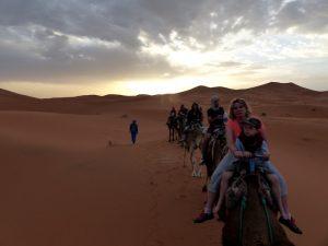 Kamelritt durch die Sahara in Marokko