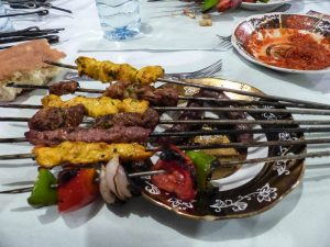 Gegrilltes Fleisch in Marrakesch
