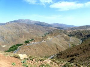 View from the Atlas mountains Morocco