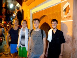 Local Hammam visit with backpackers in Morocco