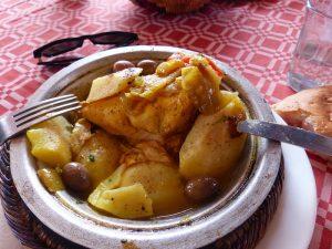 Eating Tajine in Morocco